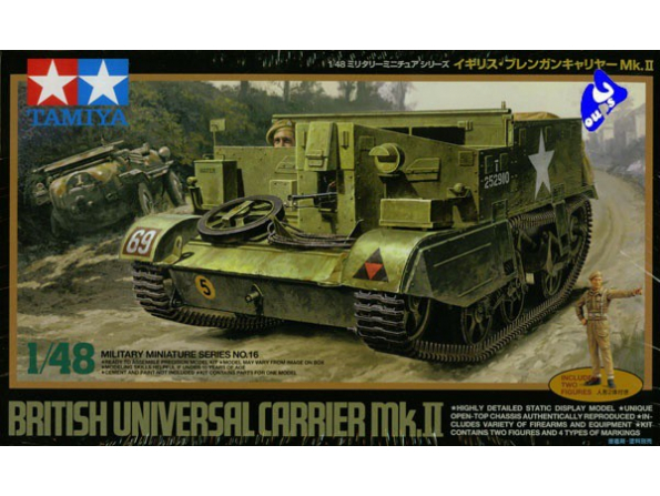 tamiya maquette militaire 32516 carrier mk.II 1/48