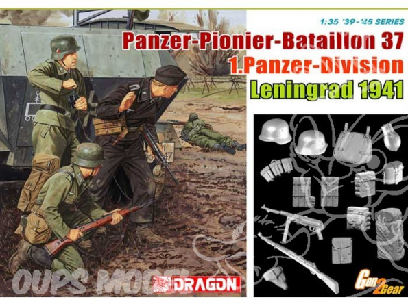 DRAGON maquette militaire 6651 Panzer pionier bataillon 37 1.Panzer Division 1/35