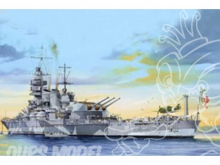Trumpeter maquette bateau 05318 CUIRASSE ITALIEN RN ROMA 1942 1/350