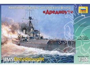 Zvezda maquette bateau 9039 Cuirasse DREADNOUGHT 1/350