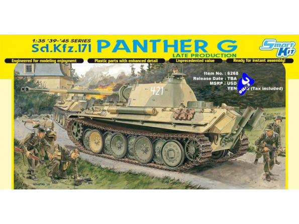 dragon maquette militaire 6268 Sd.Kfz.171 Panther G Late 1/35