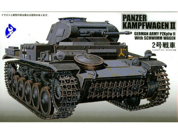 Fujimi maquette militaire 76076 Panzer Kampfwagen II 1/76