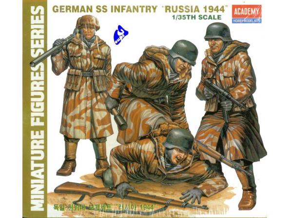 Academy maquette militaire 1378 German SS Infanterie 1/35