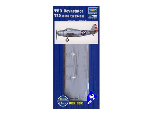 Trumpeter maquette avion 03403 SET DE 18 AVIONS TBD DEVASTATOR 1