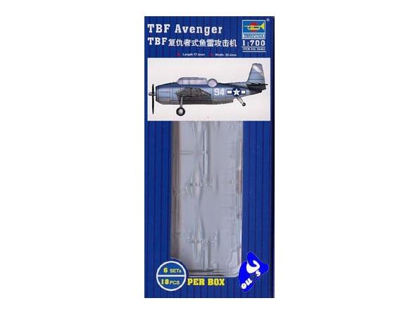 Trumpeter maquette avion 03405 SET DE 18 AVIONS TBF AVENGER 1/70