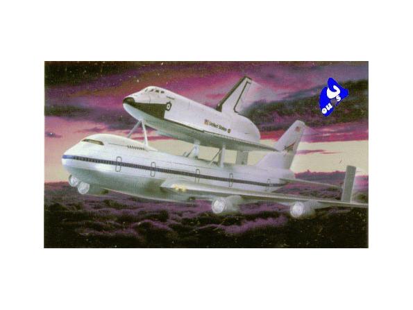 Academy maquette espace 1640 Shuttle & transporter 1/288