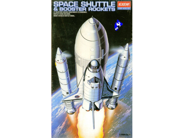 Academy maquette espace 1639 Shuttle & Booster 1/288