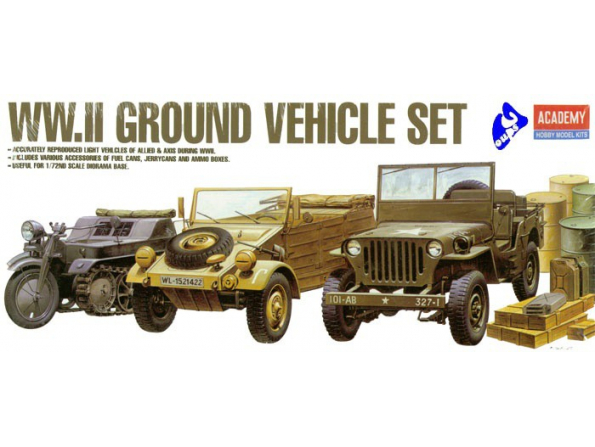 Academy maquette militaire 13416 WWII Ground Vehicule Set 1/72