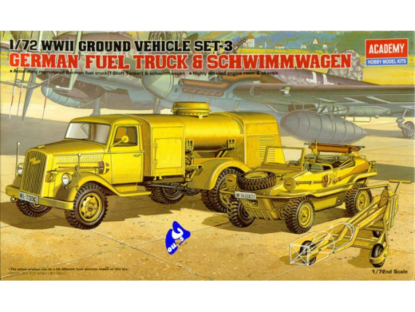 Academy maquette militaire 13401 German fuel truck & schwimmwage
