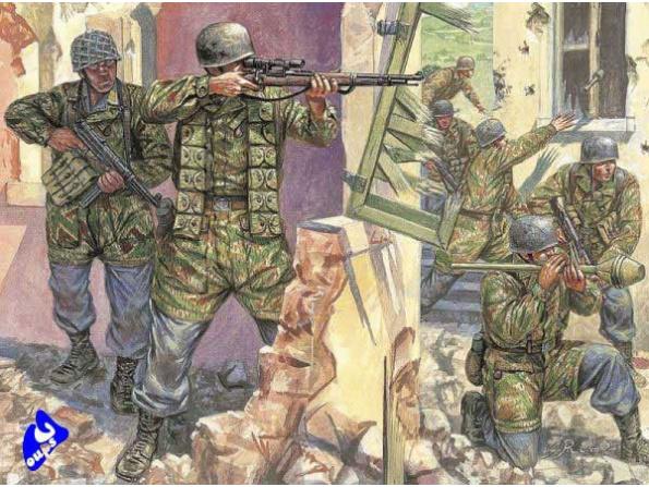 italeri maquette militaire 6045 para allemands 1/72