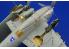 EDUARD photodecoupe 32202 F6F-3 undercarriage 1/32