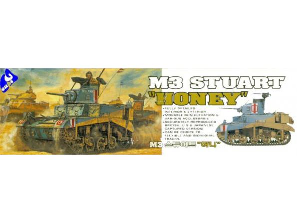 """Academy maquette militaire 1399 M3 Stuart """"Honey"""" 1/35"""
