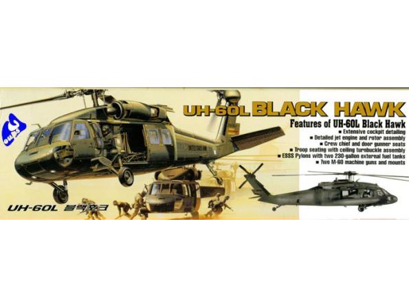 Academy maquettes avion 2192 UH-60L black Hawk 1/35