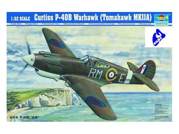 Trumpeter maquette avion 02228 Curtiss P-40B Warhawk (Tomahawk M