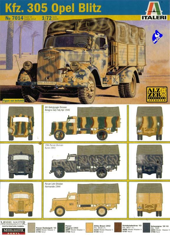 1//72 Allemand Kfz.305 Opel Blitz Camion Modèle De Véhicule De L/'armée