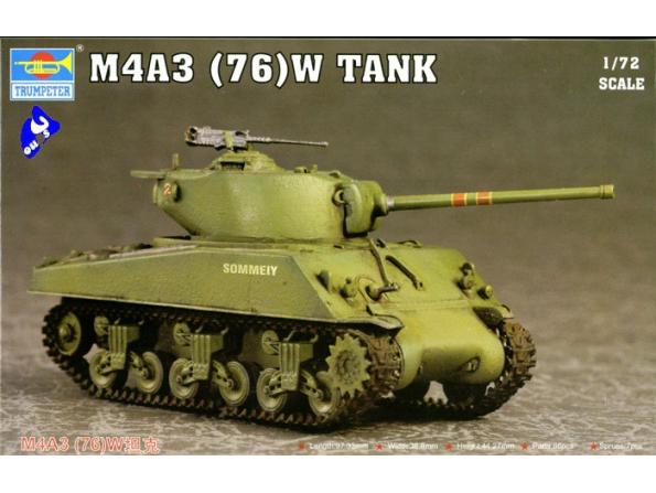Trumpeter maquette militaire 07226 CHAR MOYEN US M4A3 76 1/72