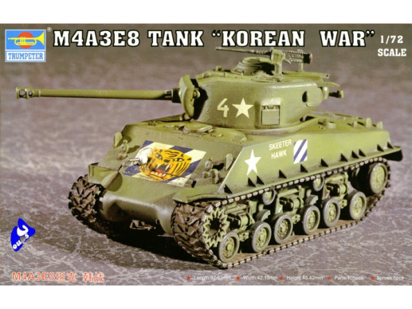 Trumpeter maquette militaire 07229 CHAR US M4A3E8 1/72