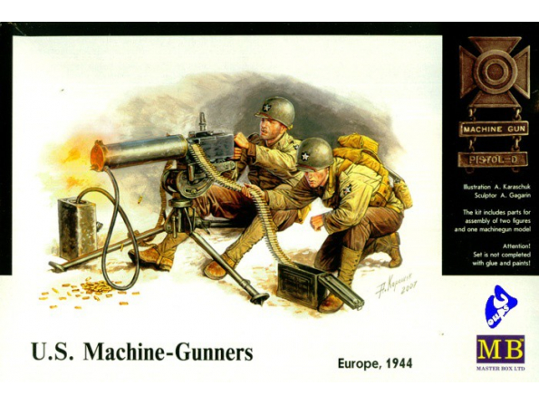 Master Box maquette militaire 3519 EQUIPE DE MITRAILLEUSE US BROWNING 1/