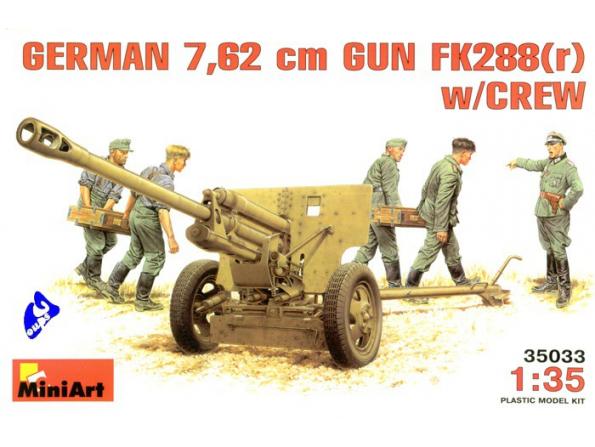 Mini art maquette militaire 35033 CANON ANTI CHARS 7.62 cm 1/35