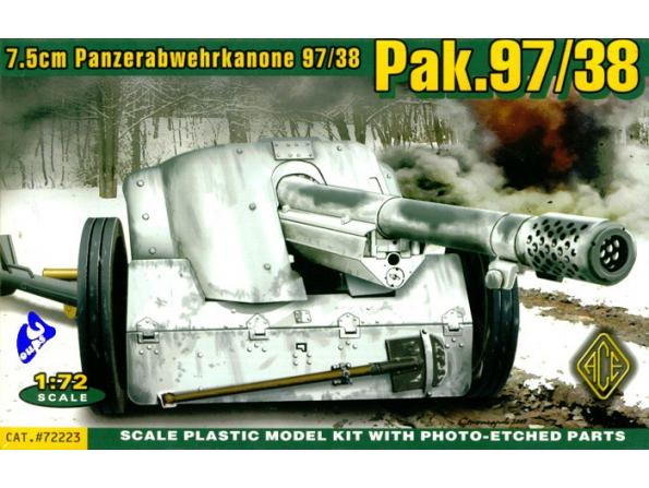 Ace Maquettes Militaire 72223 CANON ALLEMAND 7.5cm 1/72