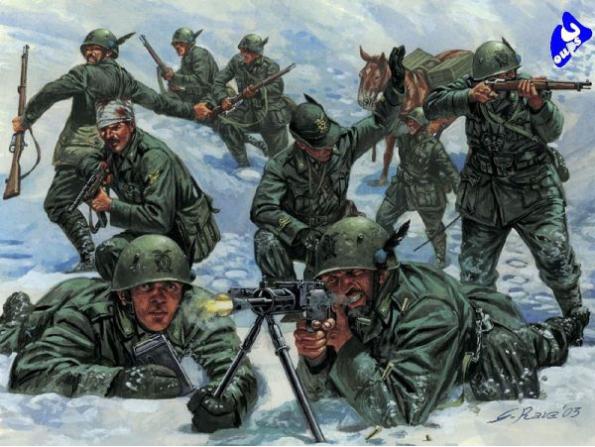 Italeri maquette militaire 6059 Troupe de montagne Italien 1/72