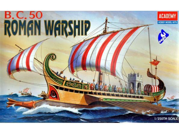Academy maquettes bateau 1401 galére Romaine 1/250