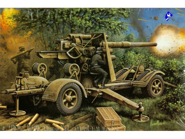 Hasegawa maquette militaire 31138 88mm GUN FLACK 36 1/72