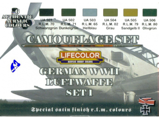 Lifecolor peinture cs06 set1 camouflage Luftwaffe