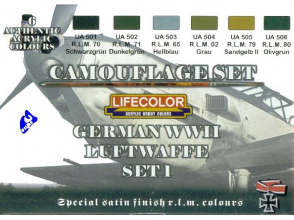 Lifecolor peinture cs06 set1 camouflage Luftwaffe