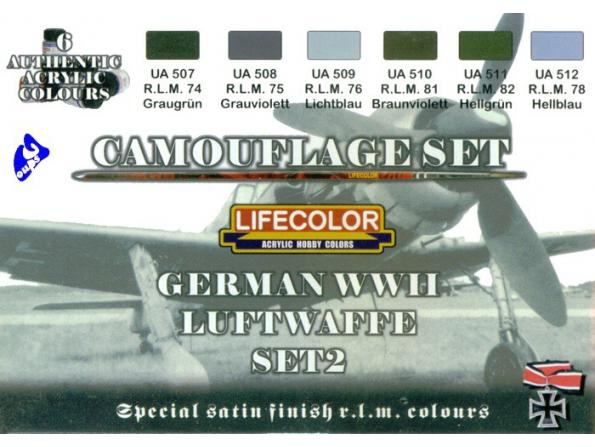 Lifecolor peinture cs07 set2 camouflage Luftwaffe