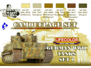 Lifecolor peinture cs01 set camouflage Tanks Allemand