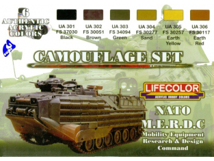 Lifecolor peinture cs02 set camouflage Nato