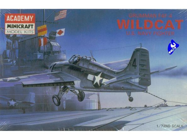 Academy maquettes avion 1650 Wilcat F4F-4 1/72