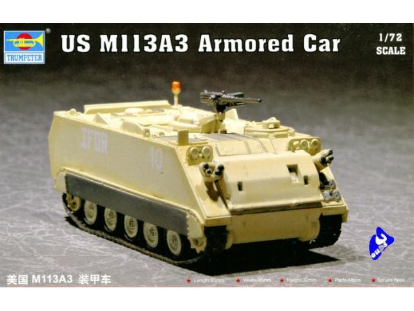 Trumpeter maquette militaire 07240 US M 113A3 VEHICULE BLINDE 1/