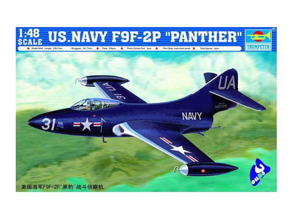 Trumpeter maquette avion 02833 GRUMANN F9F-2P 1/48