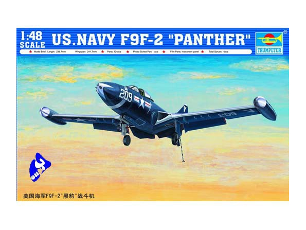 Trumpeter maquette avion 02832 GRUMANN F9F-2 1/48