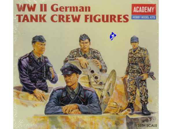 Academy maquette militaire 1371 German Tanker Figurines 1/35