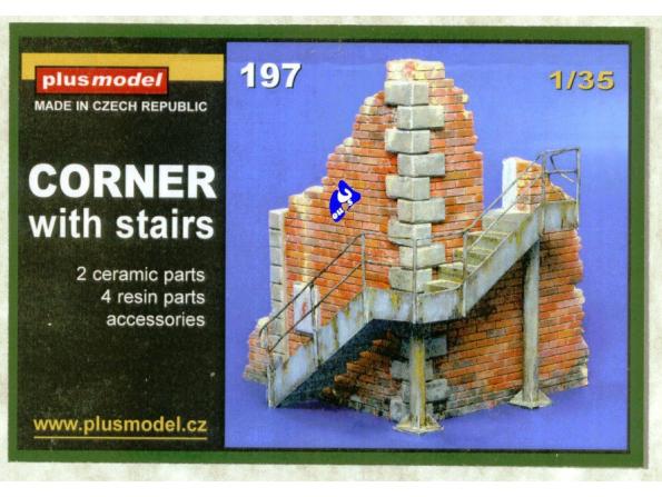 Plus Model 197 angle d&39usine avec escalier 1/35