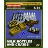 Plus Model 221 set bouteilles de lait et caisses 1/35