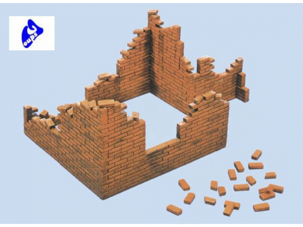 italeri maquette militaire 0405 mur de briques 1/35
