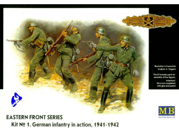 Master box maquette militaire 3522 FANTASSINS ALLEMANDS 1/35