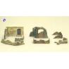 Italeri maquette militaire 6090 Murs en ruine et sacs de sable 1/72