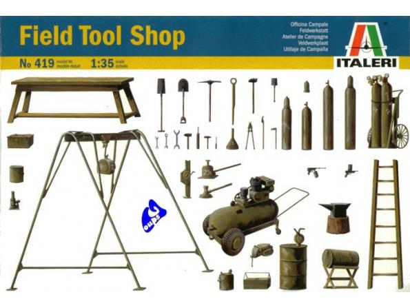 italeri maquette militaire 0419 outils 1/35
