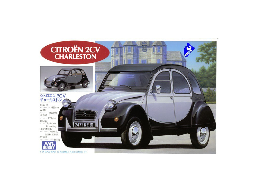 mr hobby maquettes voiture g198 citro u00ean 2cv charleston 1  24