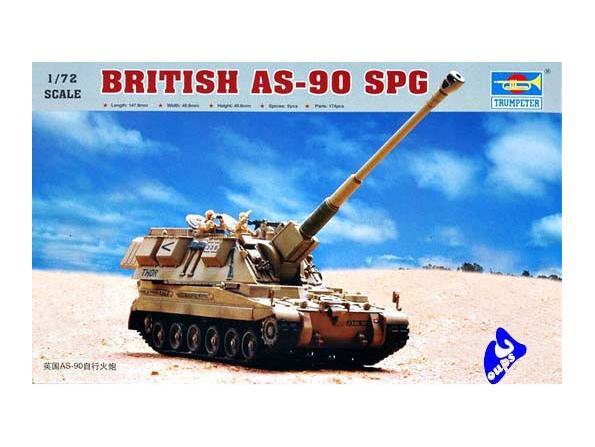 trumpeter maquette militaire 07221 CANON AUTOMOTEUR BRITANNIQUE