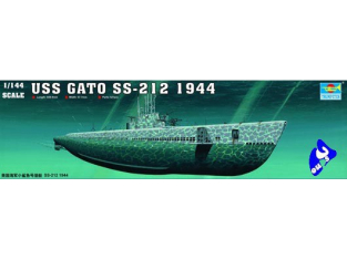 "Trumpeter maquettes sous marin 05906 USS SS-212 ""GATO"" 1/144"