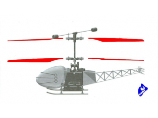 Piéces helico RC System 2049 Pales de rotor microcopter