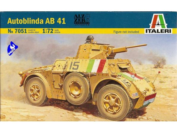 Italeri maquette militaire 7051 Autoblinda AB41 1/72