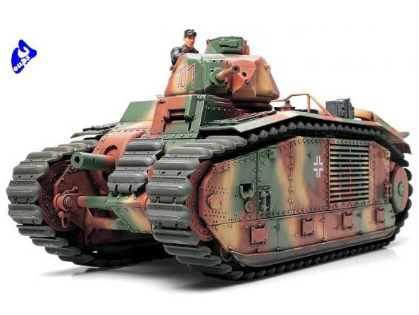 Tamiya maquette militaire 35287 Char B1Bis Armée Allemande 1/35