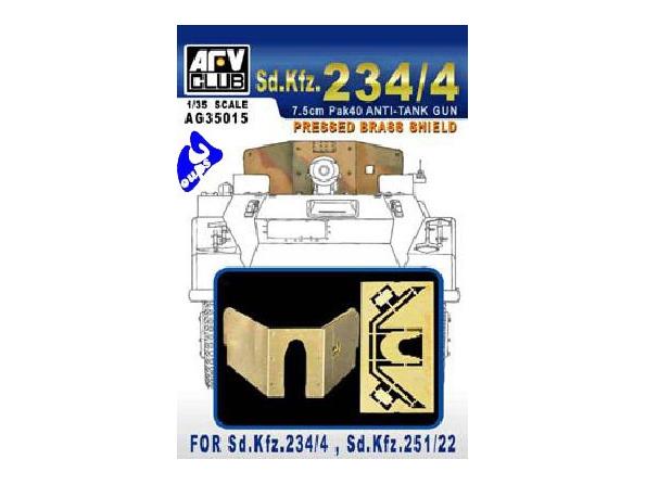 AFV maquette militaire ag35015 BOUCLIER LAITON POUR SDKFZ 1/35
